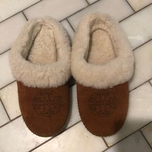 Tory Burch suede house shoes/slippers size 7 1/2